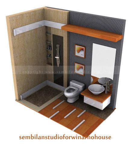 Desain Interior Kamar Mandi Kecil on Interior   Sembilanstudio   Arsitektur     Interior