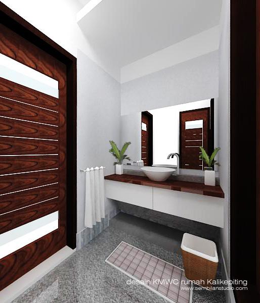 desain area kering KM/WC utama