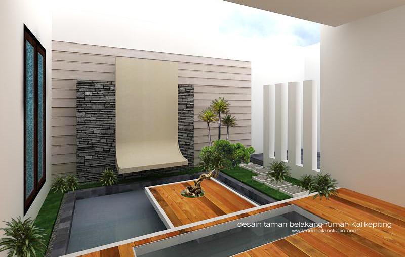 desain taman belakang