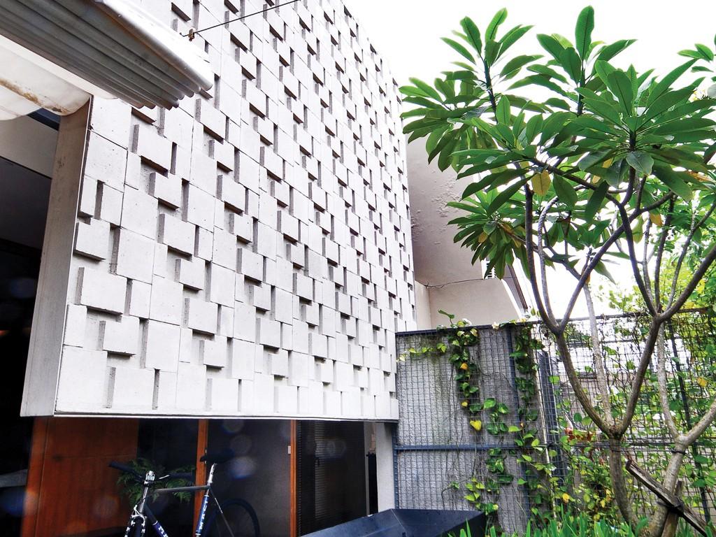 desain fasade bangunan dengan memanfaatkan batu bata ringan