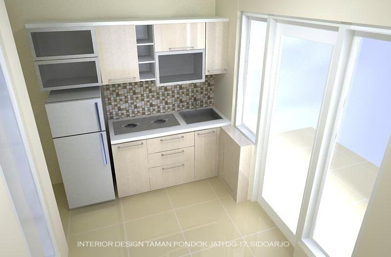 desain sederhana pantry di lahan terbatas
