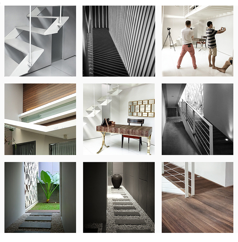 kolase proses pemotretan karya arsitek