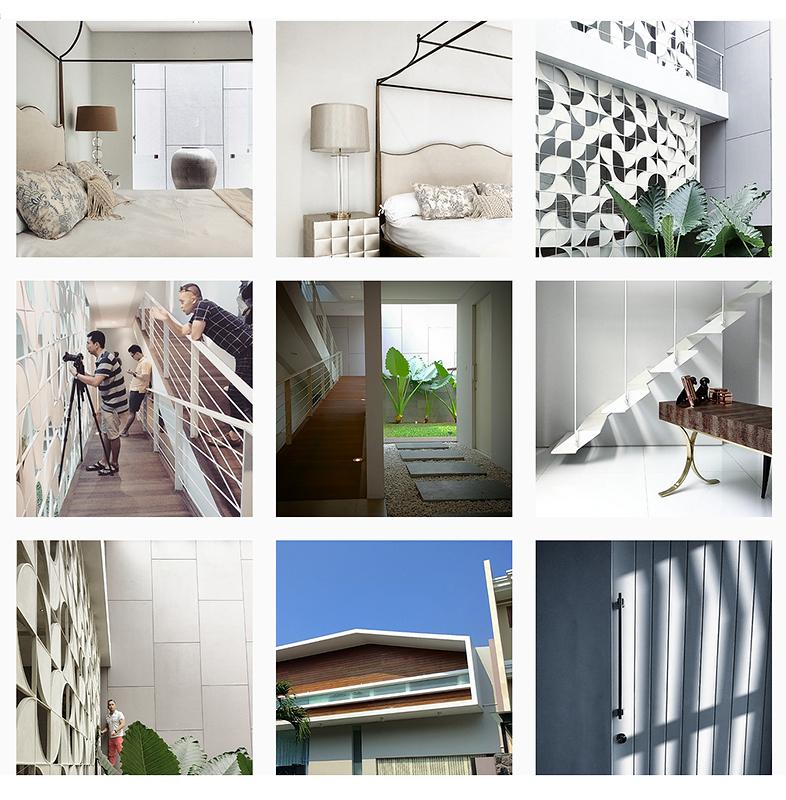 kolase proses pemotretan arsitektural interior