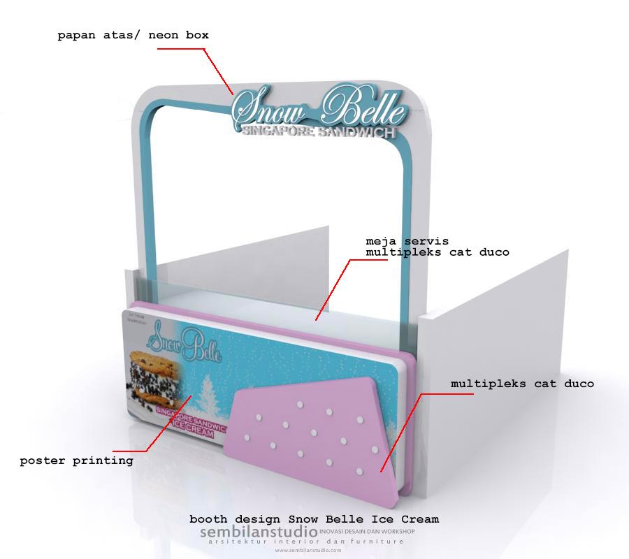 desain rombong Snow Belle