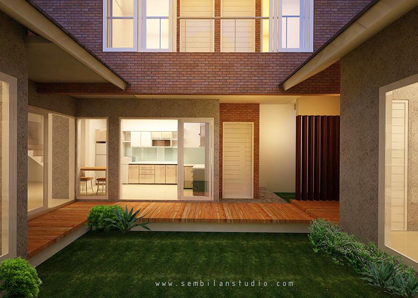 desain lokasi taman untuk rumah tinggal bapak Henry Malang