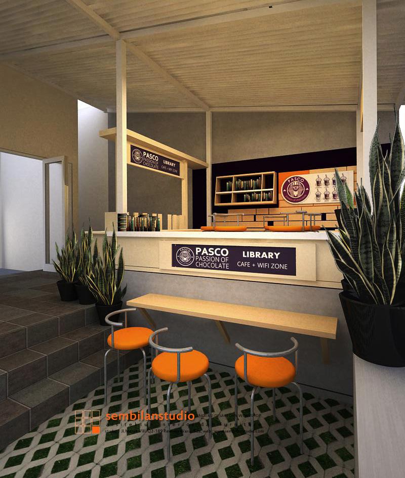 tampak meja bar dari akses carport rumah