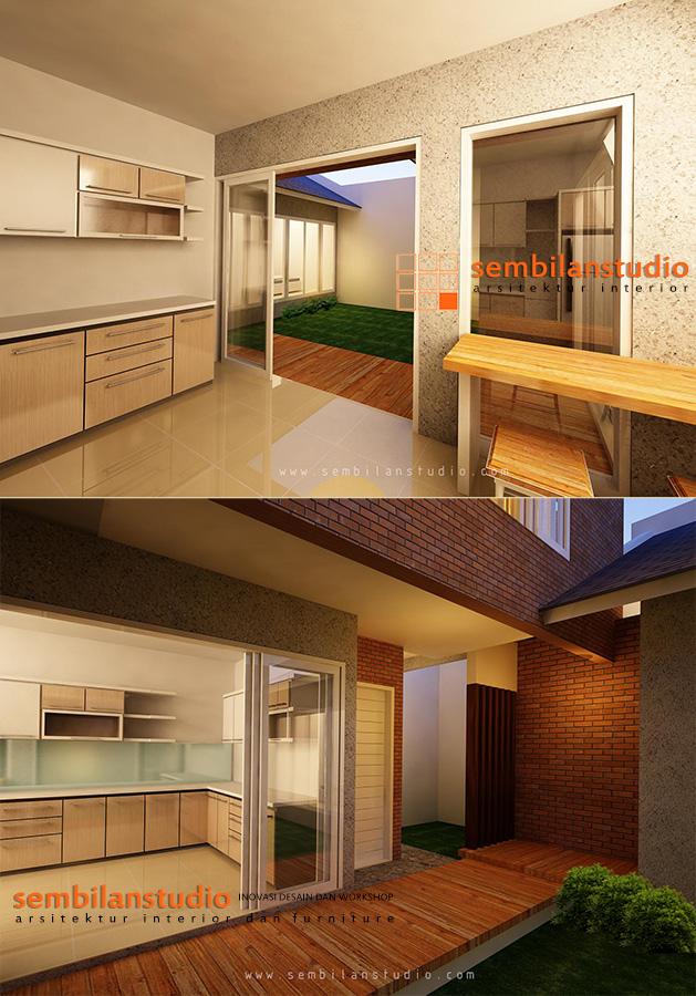 view dapur/pantry dari berbagai sudut view