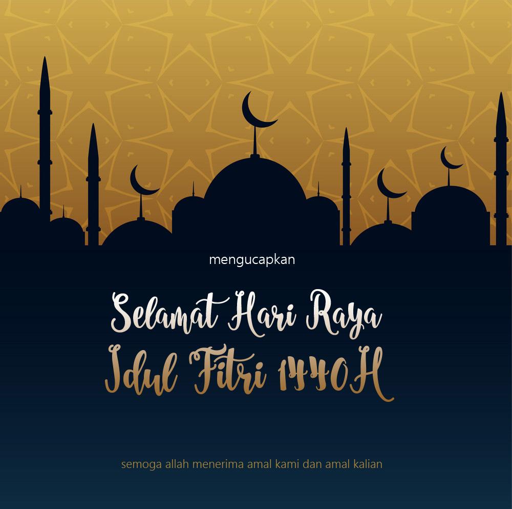 Selamat Hari Raya Idul Fitri 1440 Hijriyah Sembilanstudio